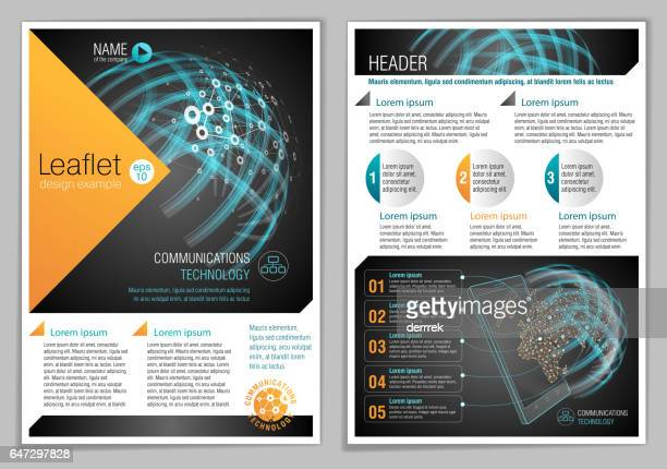 Leaflet design example. Global communications.
