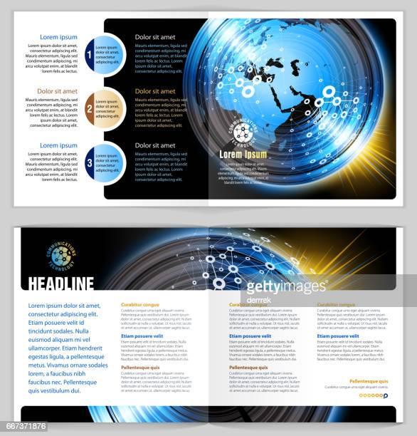 Leaflet design example. Global communications.