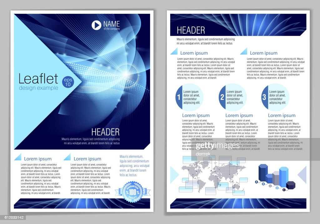 Leaflet design example : stock illustration