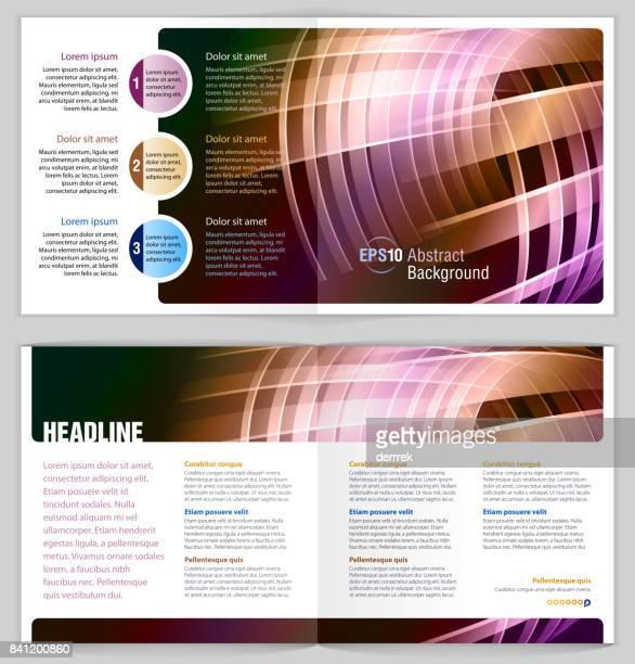 leaflet design example. - pastry lattice stock illustrations, clip art, cartoons, & icons