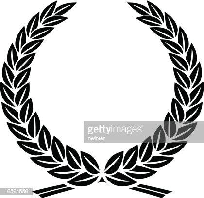 Leafy laurel wreath vector art getty images - Clipart couronne ...