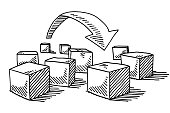 Leap Forward Cube Arrow Drawing