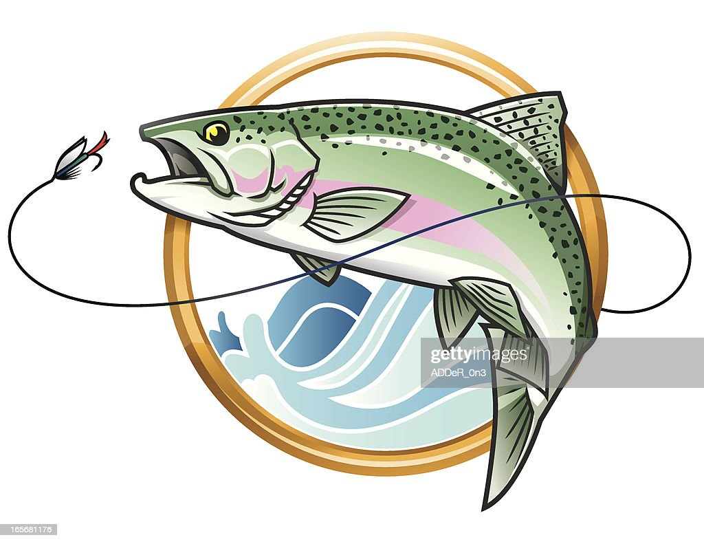 Leaping Rainbow Trout Icon