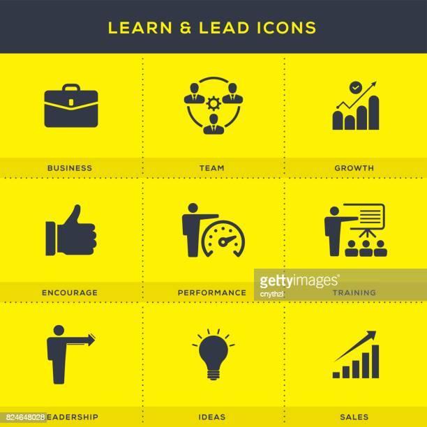 Leren en leiden van Icons Set