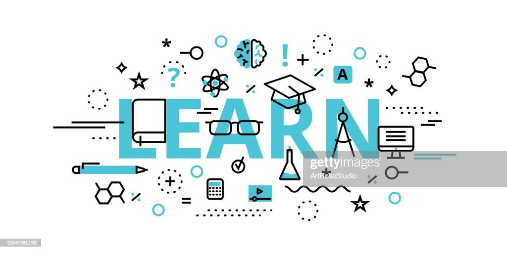 Learn concept, vector illustration