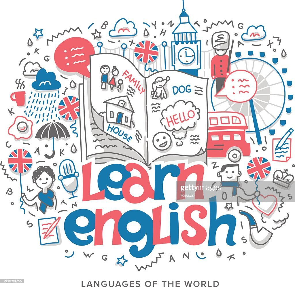 Learn English Concept Illustration