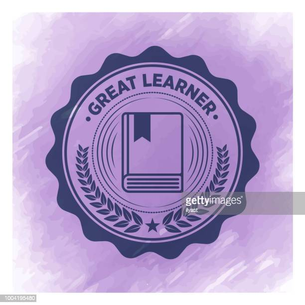 Learning Badge Watercolor Background
