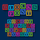 Learning Blocks font design
