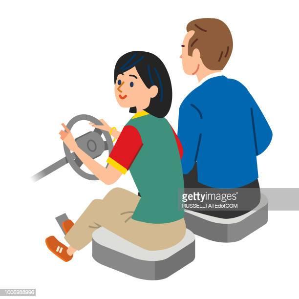 illustrations, cliparts, dessins animés et icônes de apprendre à conduire - permis de conduire