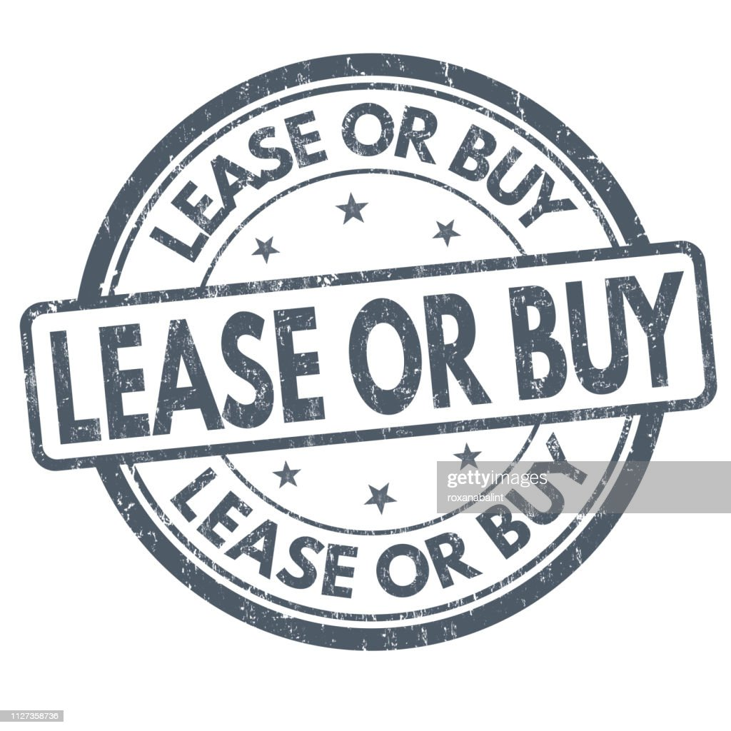 Lease or buy sign or stamp