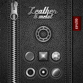 Leather and metal accesories