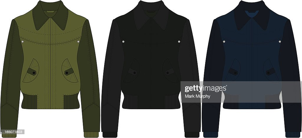 Leather Bomber Jacket Vector Art Getty Images