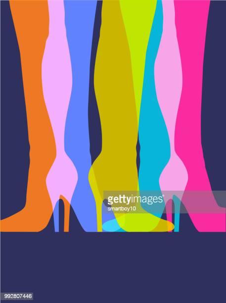 illustrazioni stock, clip art, cartoni animati e icone di tendenza di stivali moda in pelle - drag queen