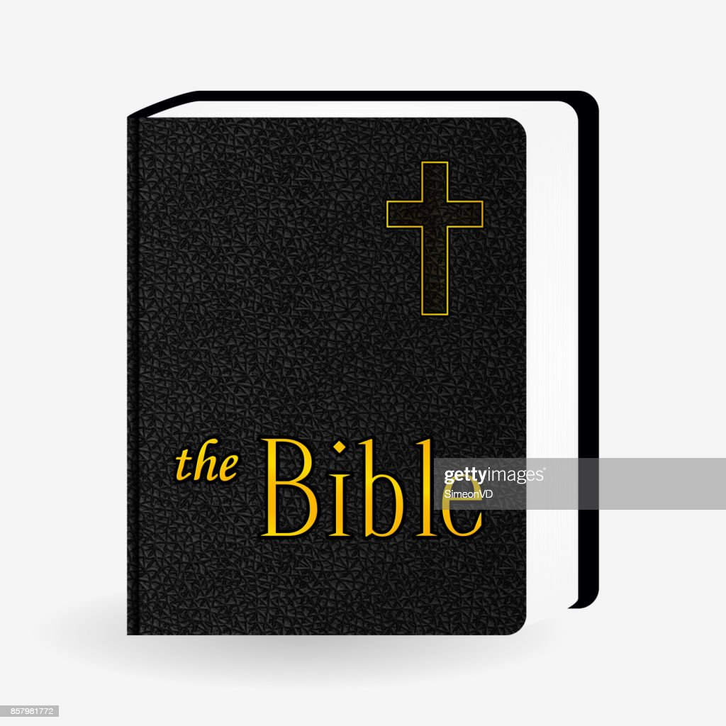 Leather Holy Bible. Book Pictogram. Vector Icons Isolated