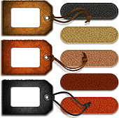 Leather labels and tags