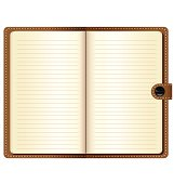 Leather notebook vector