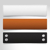 Leather textured banner templates