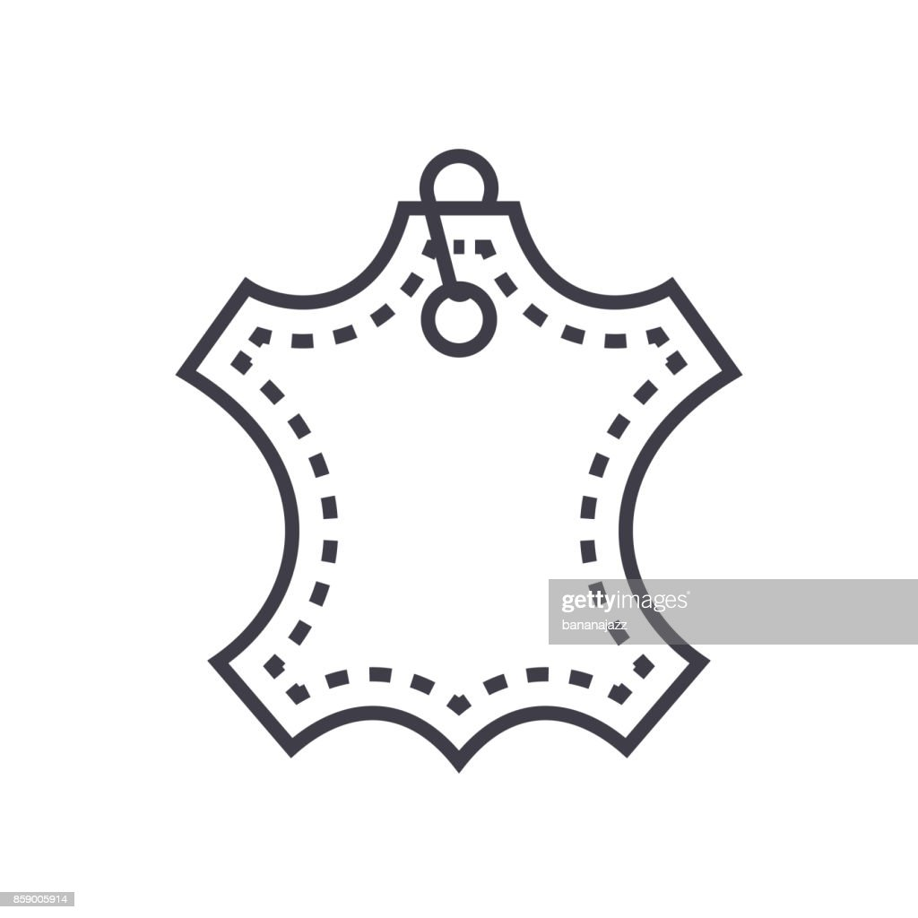 leather vector line icon, sign, illustration on background, editable strokes
