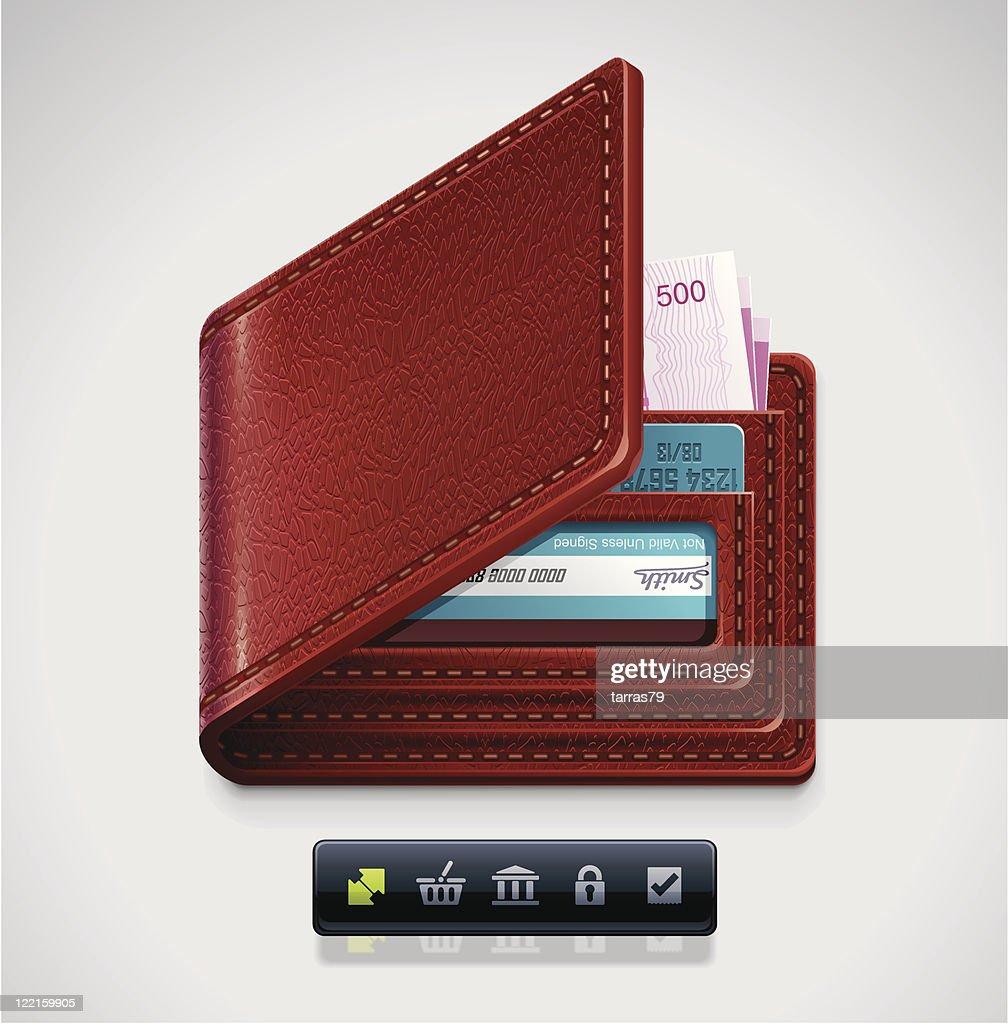 Leather wallet XXL icon