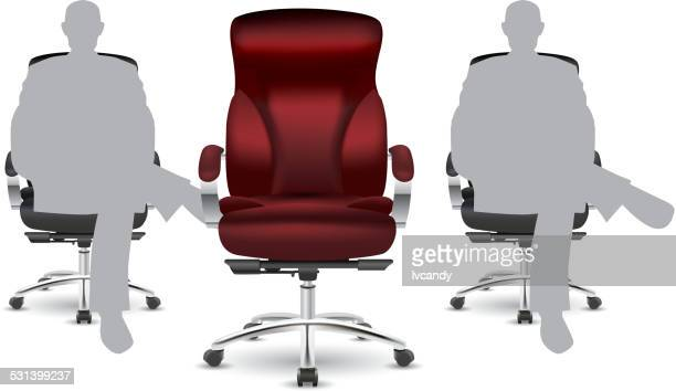 leave a seat vacant for sb - chairperson stock illustrations