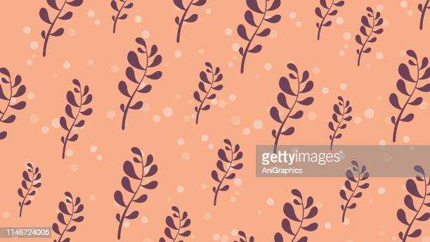 leave pattern background - pottery stock illustrations, clip art, cartoons, & icons