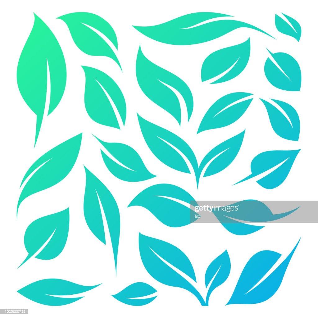 葉と葉のシンボル : ストックイラストレーション