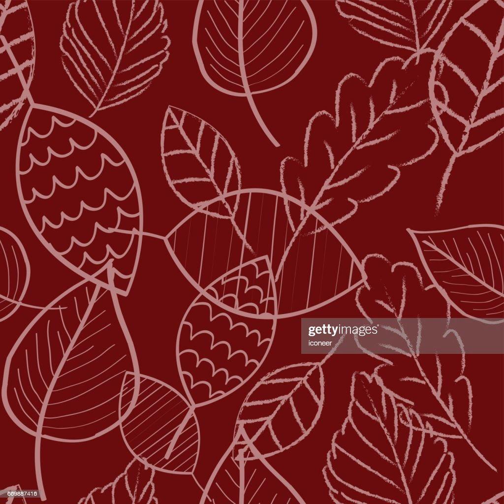 bl tter rot doodle tapete musterdesign retrodesign vektorgrafik getty images. Black Bedroom Furniture Sets. Home Design Ideas
