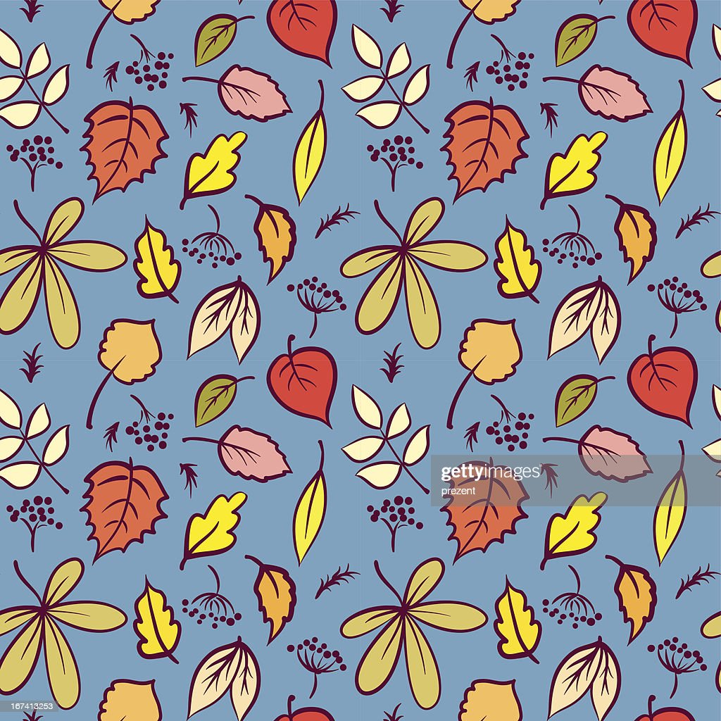 Leaves seamless pattern : Vector Art