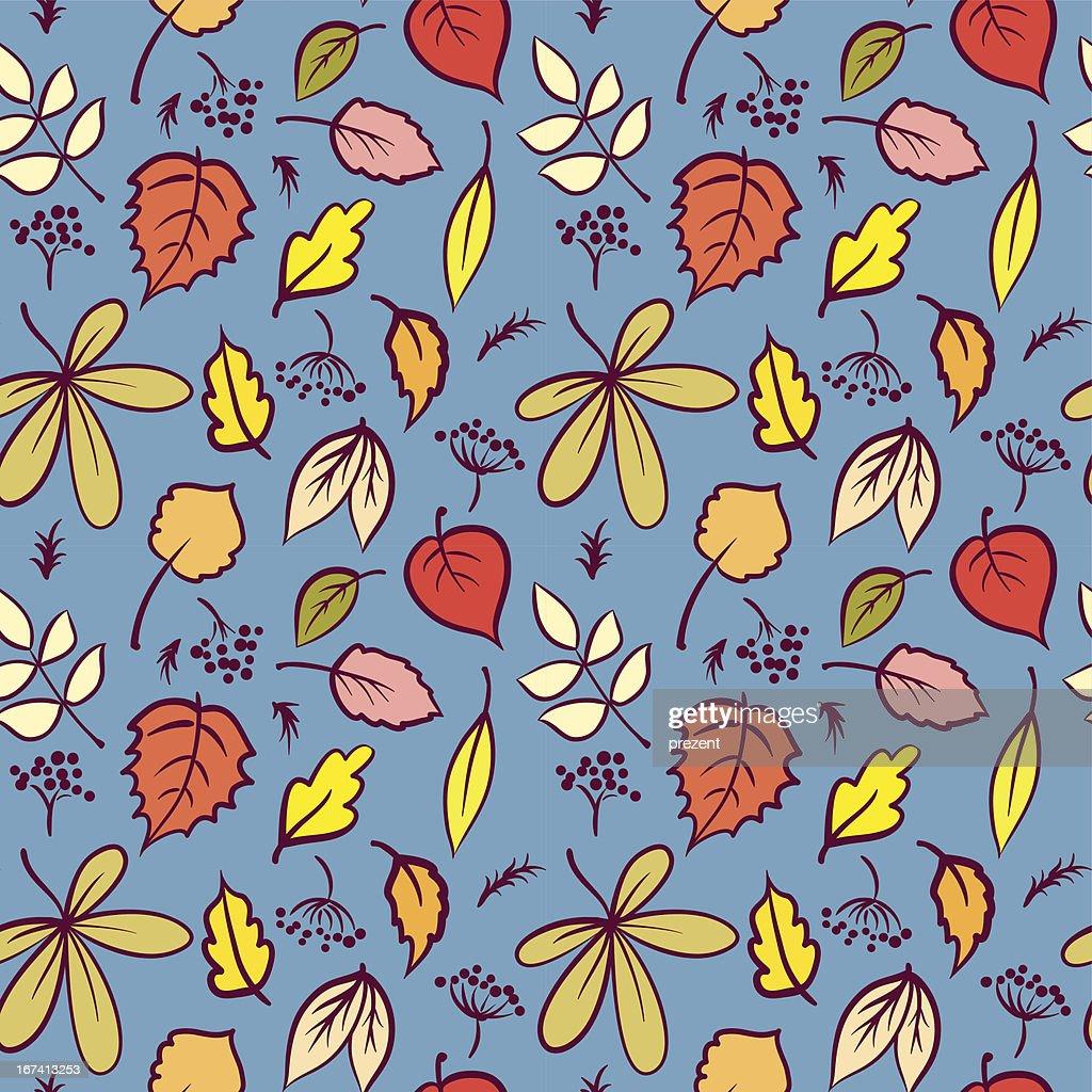 Blätter nahtlose Muster : Vektorgrafik