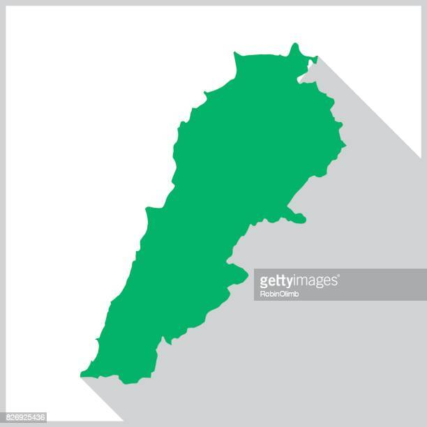 lebanon green map icon - lebanon country stock illustrations, clip art, cartoons, & icons