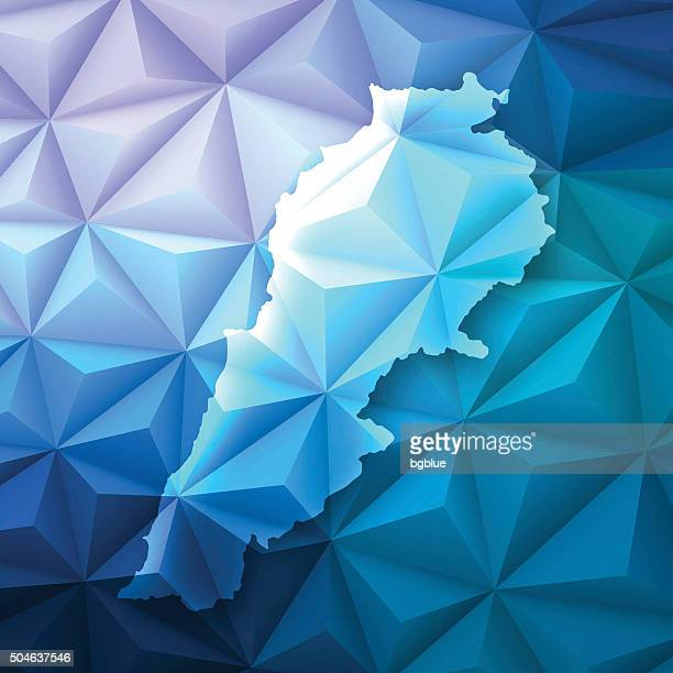 lebanon on abstract polygonal background - low poly, geometric - lebanon country stock illustrations, clip art, cartoons, & icons