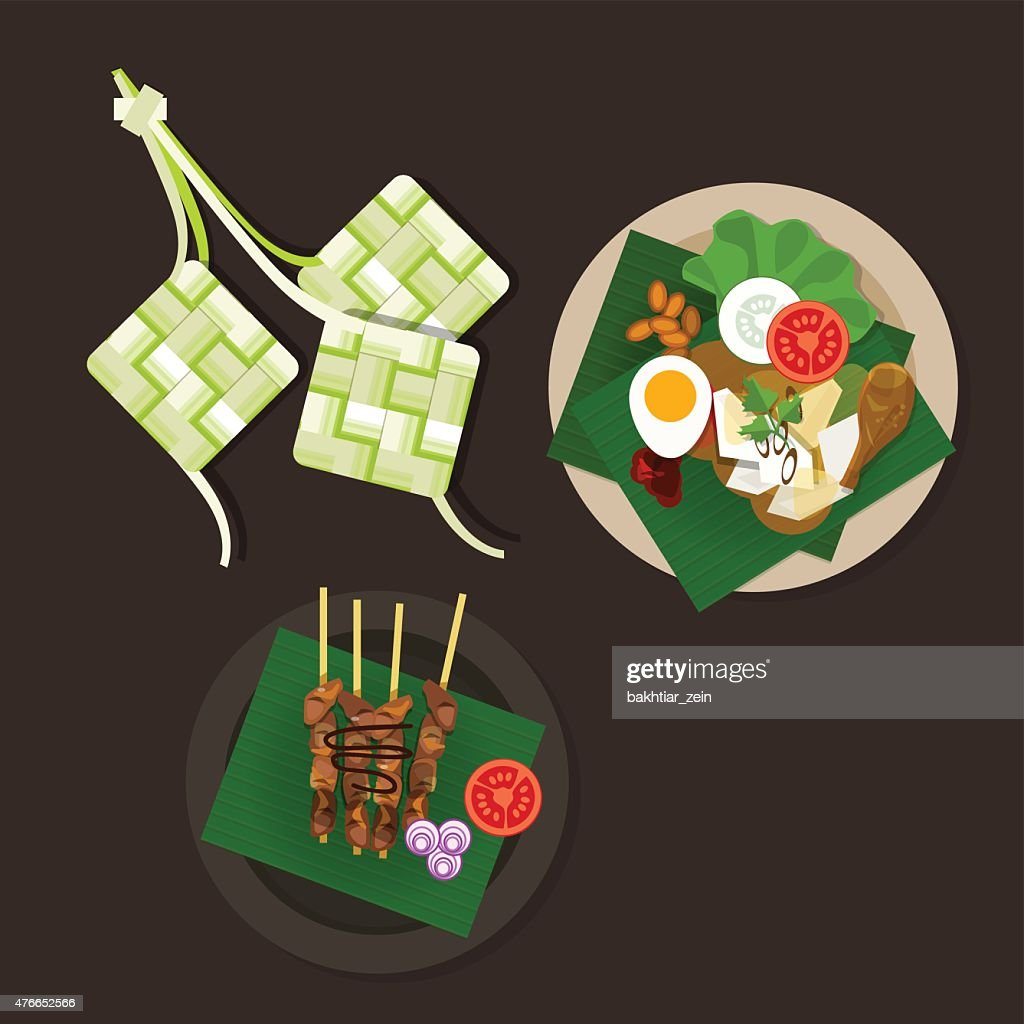 lebaran ketupat idul fitri ied food sate opor ayam