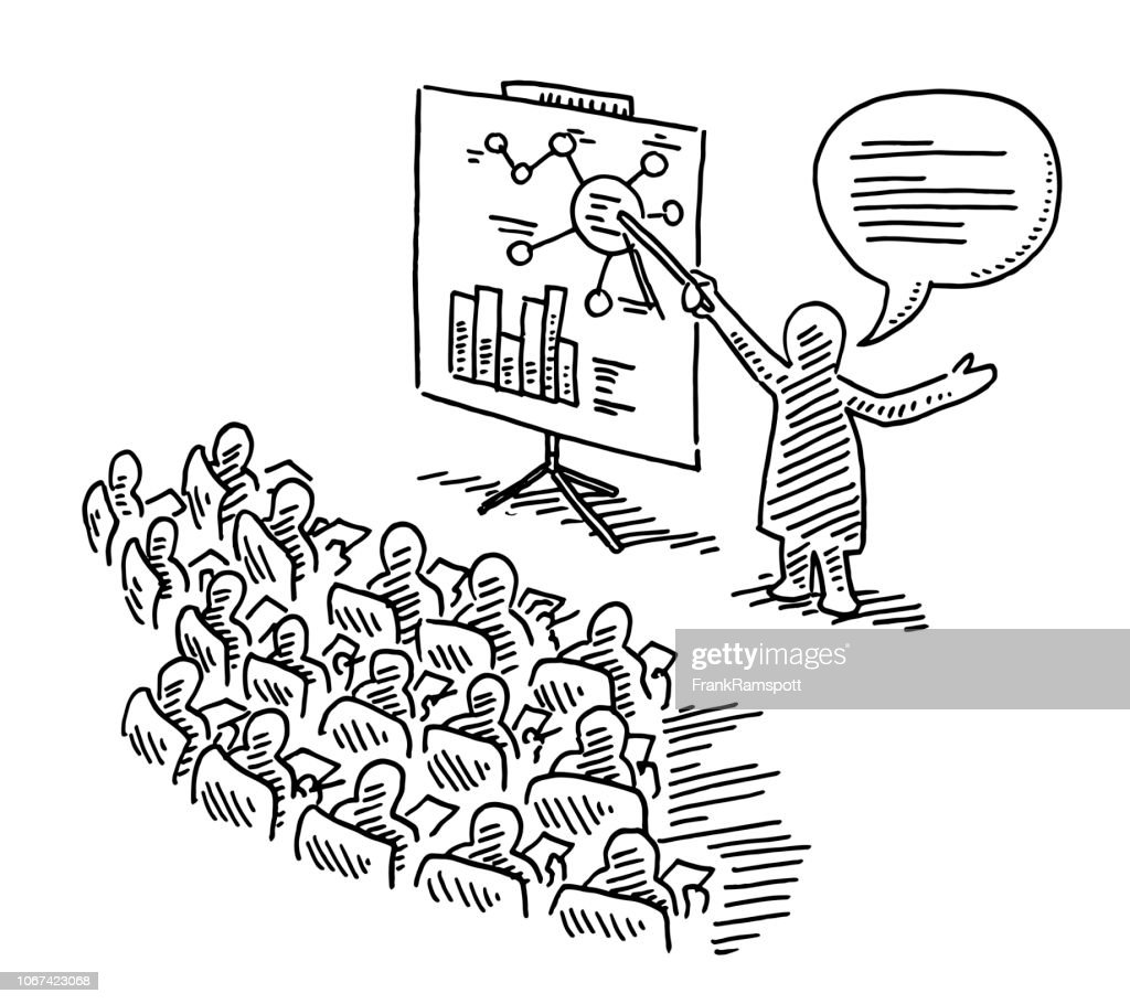 Lecture Advanced Training Education Drawing : Stock Illustration
