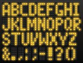 Led digital font based on dot-matrix technology