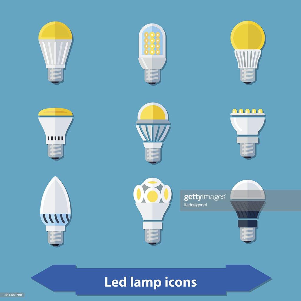 Led lamps flat
