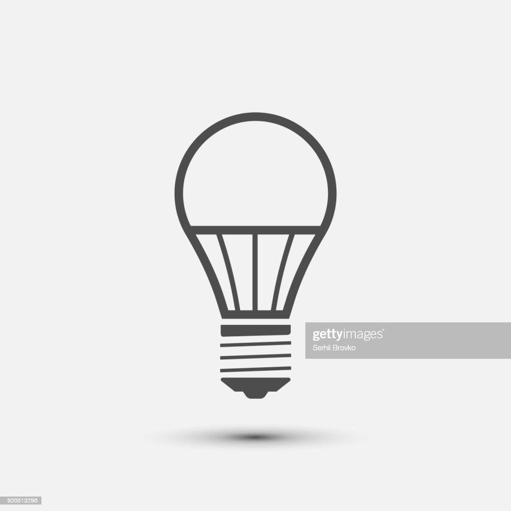 led light bulb icon. Vector illustration.