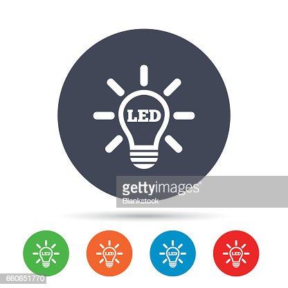 symbole auf led lampen