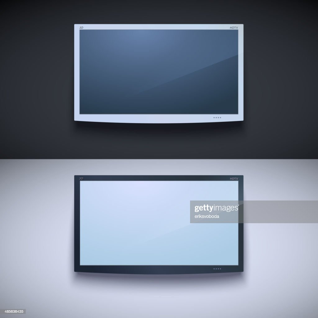 Led tv hanging on the wall