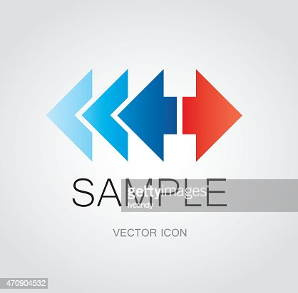 Left And Right Arrow Symbol Vector Art Getty Images