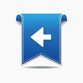 Left Arrow blue Vector Icon Design