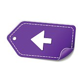 Left Arrow Violet Vector Icon Design