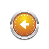 Left Arrow Yellow Vector Icon Button