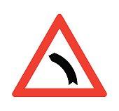 Left bend sign