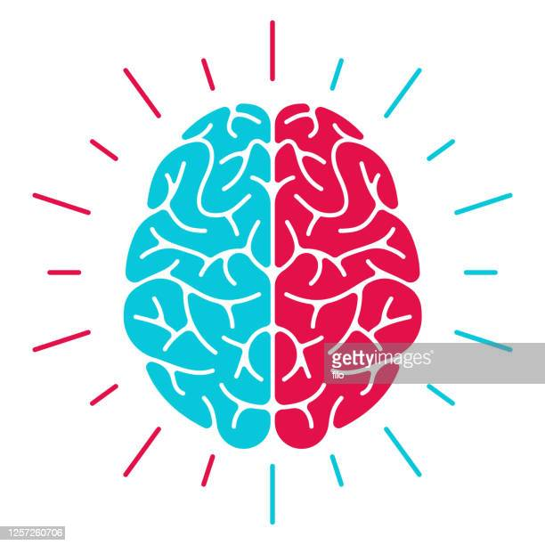 left brain vs right brain - hysteria stock illustrations