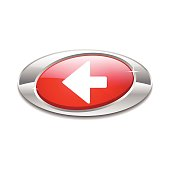 Left Key Elliptical Vector Red Web Icon Button