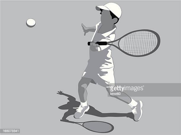 stockillustraties, clipart, cartoons en iconen met left-handed player - match sport