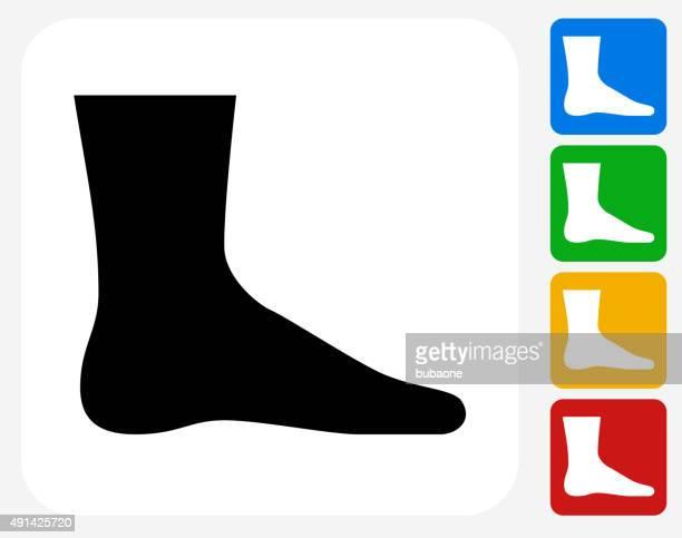 leg icon flat graphic design - toe stock illustrations, clip art, cartoons, & icons