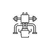 leg, press icon. Element of gym icon for mobile concept and web apps. Thin line leg, press icon can be used for web and mobile