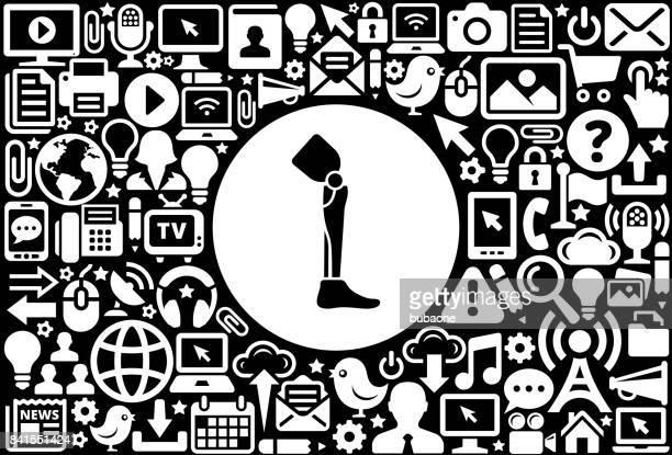 leg transplant icon black and white internet technology background - cartografia stock illustrations