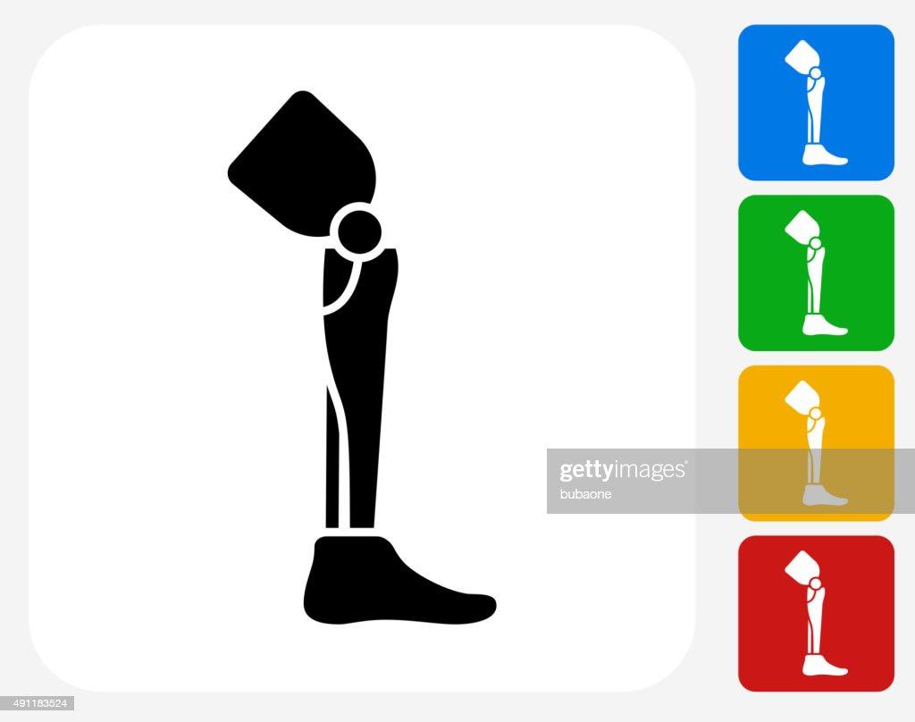 Pierna trasplante de iconos planos de diseño gráfico : arte vectorial